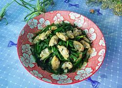 韭菜炒蛤蜊