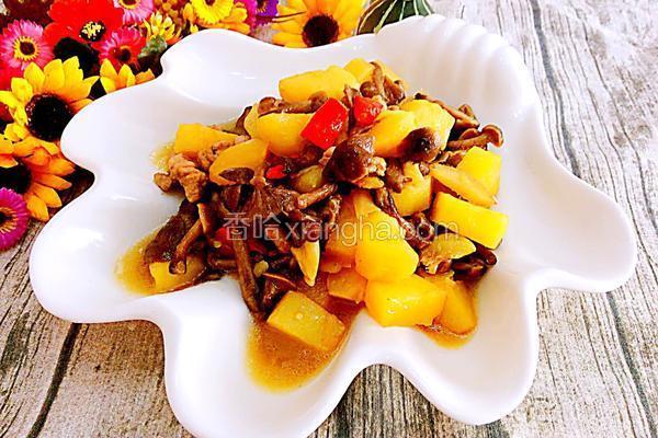 猪肉榛蘑炖土豆