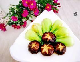 小白菜炒香菇