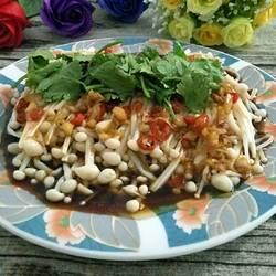凉拌针金菇