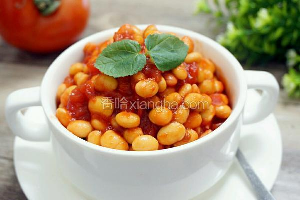 茄汁黄豆罐头