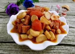 番茄杏鲍菇炒香肠