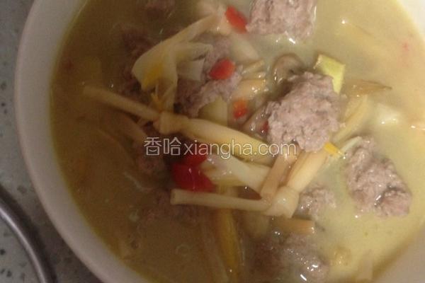 黄花菜肉泥汤