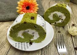抹茶红豆蛋糕卷