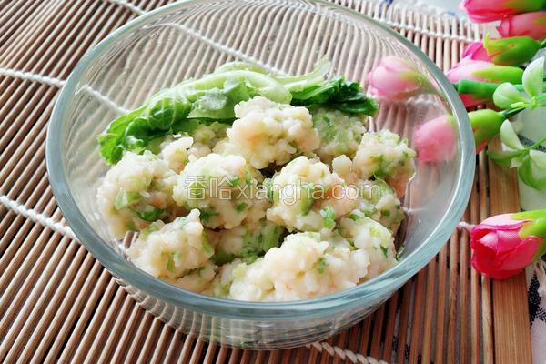 生菜鲜虾丸