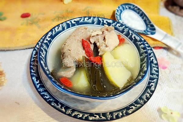 排骨海带土豆汤