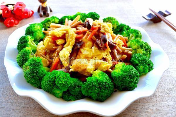 茶树菇炒蛋