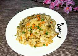 榨菜肉丝炒高粱饭