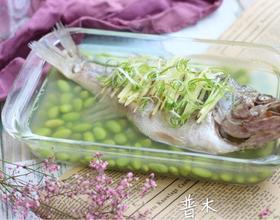 鲈鱼蒸毛豆