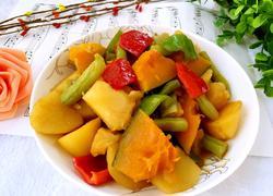土豆豆角炖南瓜