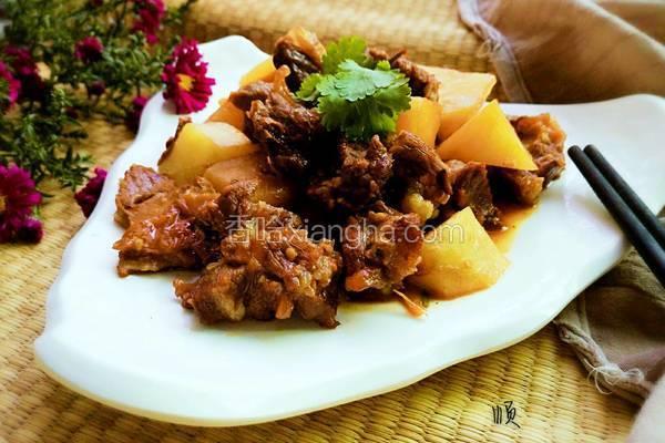 红烧土豆焖羊肉