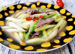 牛肉炒芦笋