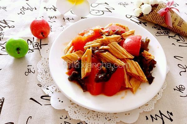 番茄烧腐竹