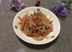 洋葱炒火腿