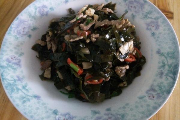 海带丝炒肉丝