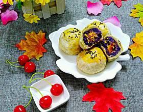 紫薯肉松蛋黄酥