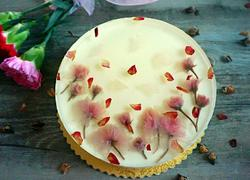 樱花镜面芝士蛋糕