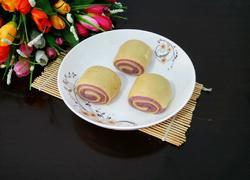 南瓜紫薯卷