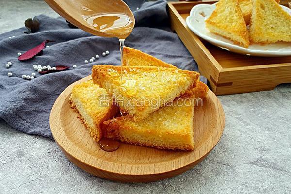 香脆蜂蜜土司片