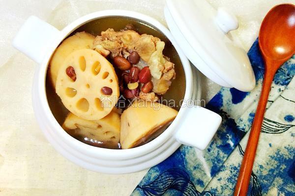 莲藕红豆骨头汤