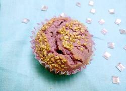 紫薯芝麻马芬