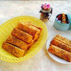 红薯五香芝麻烤饼