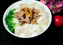 猪肝水饺面