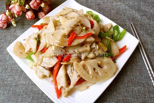 辣椒炒藕片