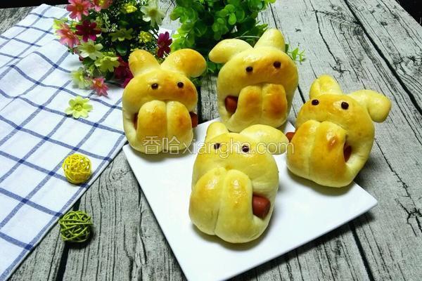 呆萌小兔子面包