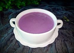 牛奶紫薯米糊