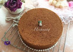 8寸巧克力戚风蛋糕