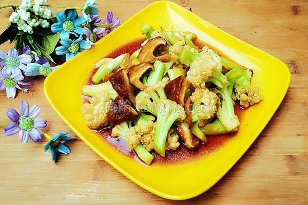蚝油香菇花菜