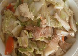 白菜莲藕五花肉炖豆腐