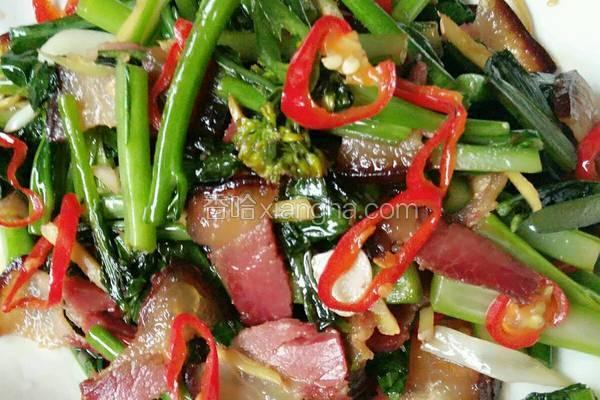菜苔炒辣肉