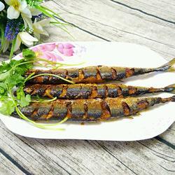 干煎秋刀鱼