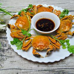 紫苏蒸毛蟹