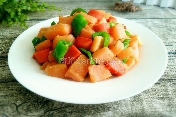 柚子皮炒火腿肠