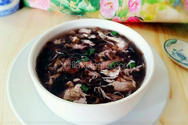 紫菜瘦肉蛋汤