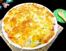 榴莲海鲜芝士焗饭
