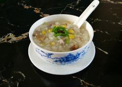 香菇玉米肉末粥