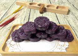 芝麻红豆馅紫薯饼