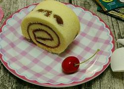 葡萄干樱桃果酱蛋糕卷~抹茶双色蛋糕卷