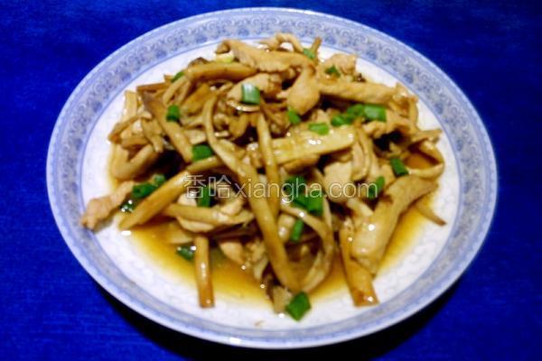 茶树菇炒肉条