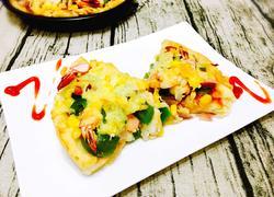 鲜虾杂蔬大披萨
