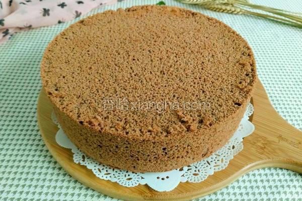 八寸可可粉蛋糕