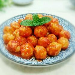 蕃茄酱裹鹌鹑蛋
