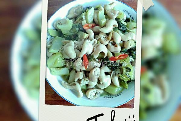 猪大肠炒酸菜