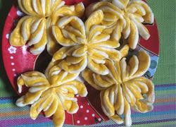双色菊花卷