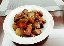 胡萝卜芋艿烧五花肉
