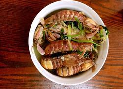 胡椒粉盐水煮虾菇